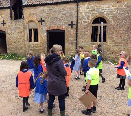 Castle Farm Summer Blog - Visit from Castle Primary School